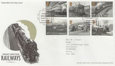 GB 2010 Great British Railways set on Royal Mail first day cover Trains, Decorated Envelopes, First Day Covers, Great British, Royal Mail, One Day, Edinburgh, Image Search, History