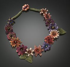 Floral Garland Necklace by Julie Powell: Beaded Necklace available at www.artfulhome.com