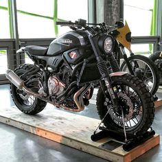 I seriously am into just what these people did to this distinctive Yamaha Motorcycles, Scrambler Motorcycle, Moto Bike, Motorcycle Garage, Motorcycle Design, Custom Motorcycles, Custom Bikes, Er6n, Offroader