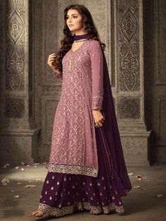Shop for exceptional Indian Ethnic Wear Palazzo Suit Salwar Kameez from Cbazaar at best price. Purchase your favorite Indian Ethnic Wear Palazzo Suit through online from US, IND, AUS. Buy Now! Indian Attire, Indian Ethnic Wear, Ethnic Gown, Indian India, Estilo India, Pakistani Bridal Dresses, Party Wear Indian Dresses, Pakistani Suits, Pakistani Fashion Party Wear