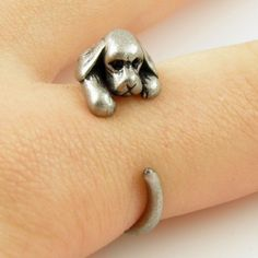 Animal Wrap Ring - Cocker Spaniel Dog Silver | KejaJewelry - Jewelry on ArtFire