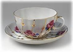 Antique Roses Cup and saucer