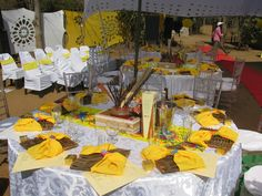 Tsonga traditional wedding decor in a farm