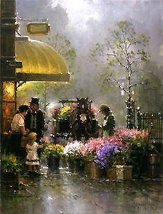 Holiday Flower Shop - G. Harvey - World-Wide-Art.com