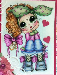 close-up by Elisabeth Sarkis. Painting Patterns, Fabric Painting, Besties, Coloring Books, Coloring Pages, Cute Cartoon Wallpapers, Digi Stamps, Copics, Cute Dolls