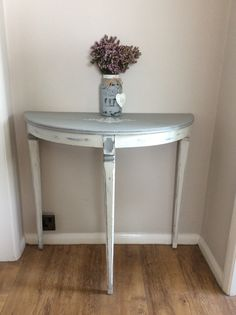 Up Cycled Hall Table In Annie Sloan Paris Grey And Old White