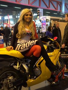 Working on the final day of Motorcycle Live 2013 on Sunday December 2013 at the NEC, Birmingham. Pit Girls, Biker, 1st December, Tights, Sexy, Motorcycles, Cars, Fashion, Navy Tights