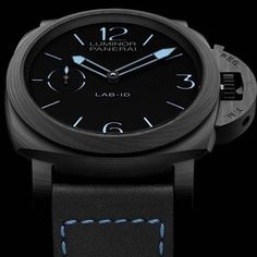 #Panerai bringing some serious tech into this year's #SIHH.  This is the #Panerai PAM700  LAB-ID. Carbotech case with a dial that uses nano technology that absorbs light and is ultra black.  A modified P.3000 movement that uses no oil to name a few.  Only 50 pieces, will cost 50,000 euro, and come with a 50 year warranty.
