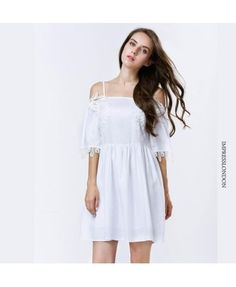 Impress London white off shoulder mini dress A0794