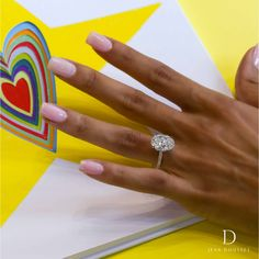 SARAH, custom engagement ring with platinum, yellow gold and a 6.0+ carat oval diamond, handcrafted by Jean Dousset. #love #engagement #diamonds