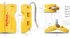 Fat Ivan - Innovative Door Chock for emergency services, commercial & industrial and residential use.  Keep exit routes open, keep doors open for multiple trips or deliveries...... Essential First Aid Kit, Security Equipment, Gadget Gifts, Door Opener, Knives And Tools, Tactical Gear, Hand Sanitizer, Industrial Design, Police