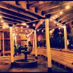 The New Lighting on the #Ariccia patio!