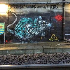 Street art in Antwerp, Belgium by Dzia Krank
