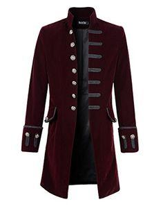 Mens Velvet Goth Steampunk Victorian Frock Coat (XL, Burg... https://www.amazon.com/dp/B01CE3ZN98/ref=cm_sw_r_pi_dp_x_2QbDzbGMA6EGS