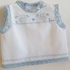 Camisa bolillos azul