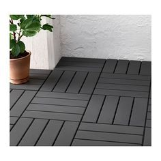 IKEA - RUNNEN, Decking, outdoor, Floor decking makes it easy to refresh your terrace or balcony.The floor decking is weather-resistant and easy to care for since Backyard Patio, Backyard Landscaping, Pallet Patio Decks, Outdoor Patio Flooring Ideas, Patio Ideas, Cheap Patio Floor Ideas, Outdoor Decking, Balcony Flooring, Outdoor Tiles