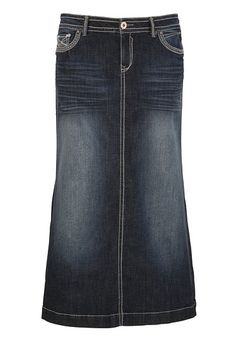Hydraulic® Dark Wash Long Denim Skirt available at #Maurices