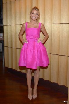 Blake Lively appeared with Joe Jonas at ABC in New York City, NY, USA on 27 June 2012. She looked gorgeous in her pink number.