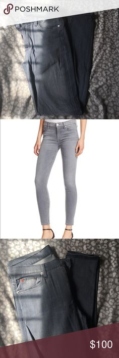 Hudson jeans Super skinny, mid rise. Grey. Size 28. 92% cotton. Super soft and comfortable. Worn about two times. Great condition. Hudson Jeans Jeans Skinny