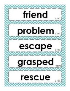 Kindergarten McGraw Hill Wonders Oral Vocabulary Word Cards ...