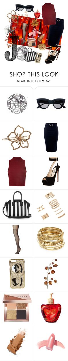 """""""Lunch Date"""" by jeanice09 ❤ liked on Polyvore featuring L. Erickson, Glamorous, Prada, Givenchy, Forever 21, Commando, ABS by Allen Schwartz, Chiara Ferragni, Pier 1 Imports and Bobbi Brown Cosmetics"""