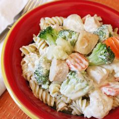 Creamy Chicken and Rotini Primavera -- $1.35 per serving | 15 Cheap Recipes and Dinner Ideas | Budget-Friendly Family Recipes | Food | Disney Family.com#36;1.35 per serving;3#36;1.35 per serving;3
