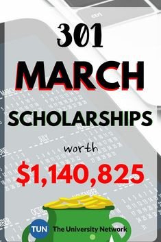 March 2018 Scholarships worth A LOT OF MONEY! School Scholarship, Scholarships For College, Student Loans, College Students, Financial Aid For College, College Planning, Education College, College Savings, College Life Hacks