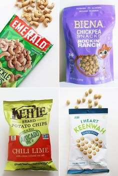The Best New Grocery Store Snacks of 2016 Healthy Snacks To Buy, Easy Snacks, Healthy Eating, Healthy Sweets, Chickpea Snacks, Organic Snacks, Popsugar Food, Snack Recipes, Drink Recipes