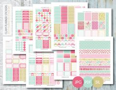 Free Monthly Printable Planner Stickers Set - Floral - Erin Condren