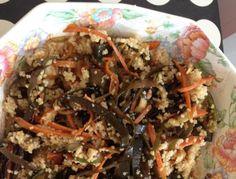 cori gramescu reteta salata de alge cuscus Couscous, Pulled Pork, Tofu, Curry, Ethnic Recipes, Shredded Pork, Curries, Braised Pork