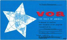 voice of america qsl - Google Search