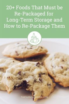 20+ Foods that must be re-packaged for long-term storage and how to repackage them - Survival Mom Emergency Food Storage, Canned Food Storage, Emergency Preparedness, Prepper Food, Long Term Food Storage, Oven Canning, Emergency Preparation, Baked Chips, Cold Meals