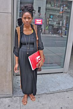 Fab Toronto brown girl with casual-cool neutral ensemble