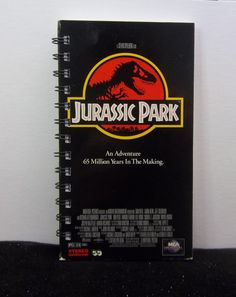 Recycled Notebook From Jurassic Park VHS Box by AWRecycledJournals, $8.00