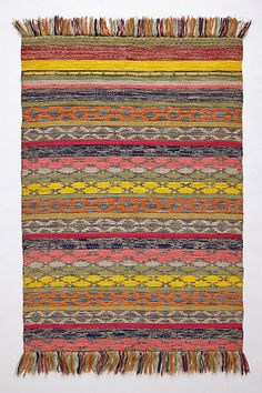 Fringed Monterey Rug by Anthropologie from Anthropologie. Saved to Home:The Bohemian Life. Interior Design Kitchen, Modern Interior Design, Textiles, Florida Home, Home Rugs, Unique Rugs, Modern House Design, Home Furniture, Furniture Styles
