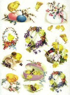 Ricepaper/Decoupage paper, Scrapbooking Sheets Vintage Easter Decorations