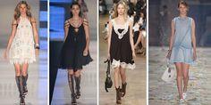 Moda feminina primavera-verão 2016-vestido-formato-A