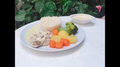 Pollo con arroz y verduras al vapor con Monsieur Cuisine - YouTube Carne, Robot, Eggs, Breakfast, Youtube, Breast, Potatoes, Steamed Vegetables, Healthy Recipes