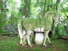 Beautiful abandoned statue in Scotland~