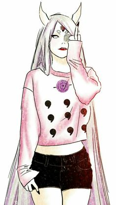 Kaguya Otsutsuki (Naruto Shippuden) she wolf be a cool mom if she didn't want to kill everyone or make them into a weapon. Naruto Shippuden Sasuke, Anime Naruto, Naruto Fan Art, Naruto Girls, Madara Uchiha, Manga Anime, Anime Girls, Inojin, Manga Girl