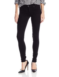 Hudson Women's Krista Skinny Jean In Noir Coated * Click image to review more details.