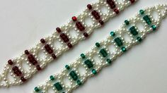 2 Bracelets 1 Beaded Pattern. How to make beautiful bracelets for Mother...