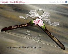 Personalized Hangers for Weddings Dress Hanger Elegant Bridal Hanger Name…