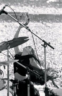 Fleetwood Mac: Stevie Nicks on stage.