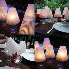 DIY Wine Glass Lampshades