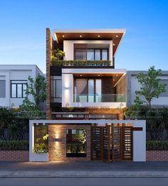 House Front Elevation Designs In Tamilnadu Minimalist House Design, Modern House Design, Modern Zen House, Modern House Facades, Modern Minimalist, Chalet Modern, House Front Design, 3 Storey House Design, House Elevation