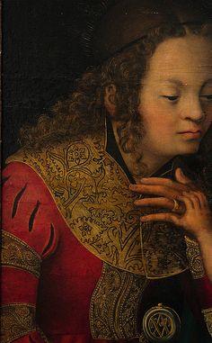 København, Statens Museum for Kunst, Cranach, Jesus with Mary & saints Catherine & Barbara & 2 cherubs, detail | Flickr - Photo Sharing!