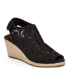 Look at this Bucco Black Summus Espadrille on #zulily today!