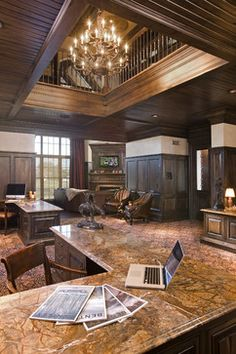 Home Office Photos Old World Tuscan Design, Pictures, Remodel, Decor and Ideas - page 6