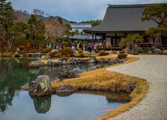 julesnene posted a photo:  The Sōgen Pond created by Musō Soseki is designated as a Special Place of Scenic Beauty of Japan.  Tenryū-ji (天龍寺?)—more formally known as Tenryū Shiseizen-ji (天龍資聖禅寺?)—is the head temple of the Tenryū branch of Rinzai Zen Buddhism, located in Susukinobaba-chō, Ukyō Ward, Kyoto, Japan. The temple was founded by Ashikaga Takauji in 1339, primarily to venerate Gautama Buddha, and its first chief priest was Musō Soseki. Construction was completed in 1345. As a temple…